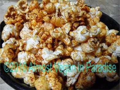 Healthy Halloween Treat:  Bloody Popcorn