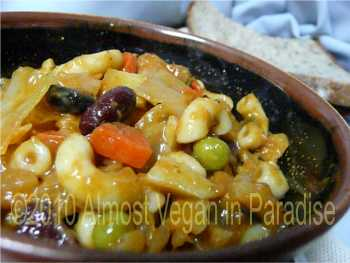 Vegetarian/Vegan Minestrone Soup