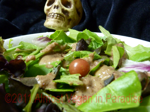 vegan halloween recipe gross salad dressing