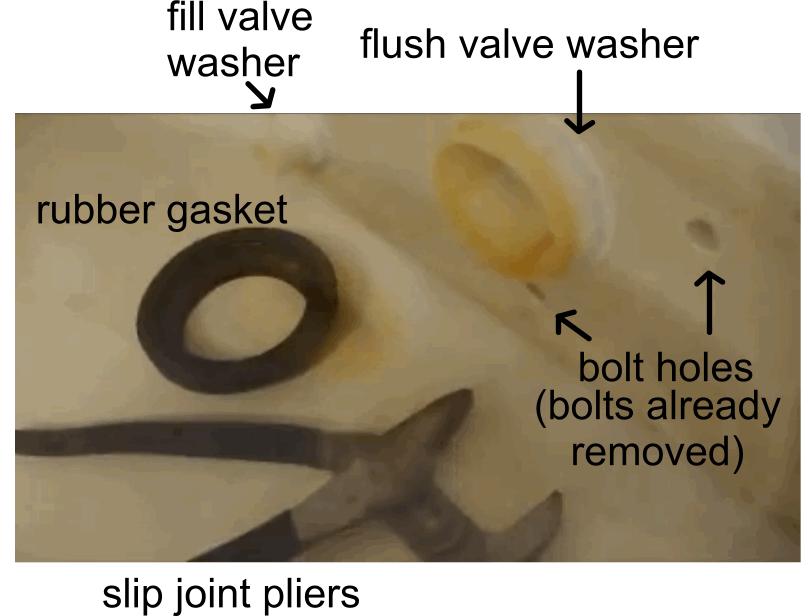 underneath toilet tank parts