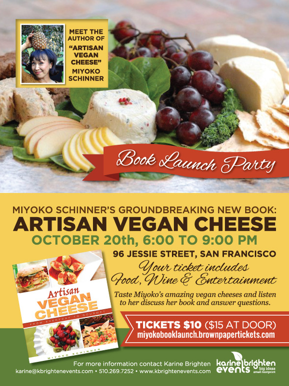 Vegan Artisan Cheese Book Launch Party