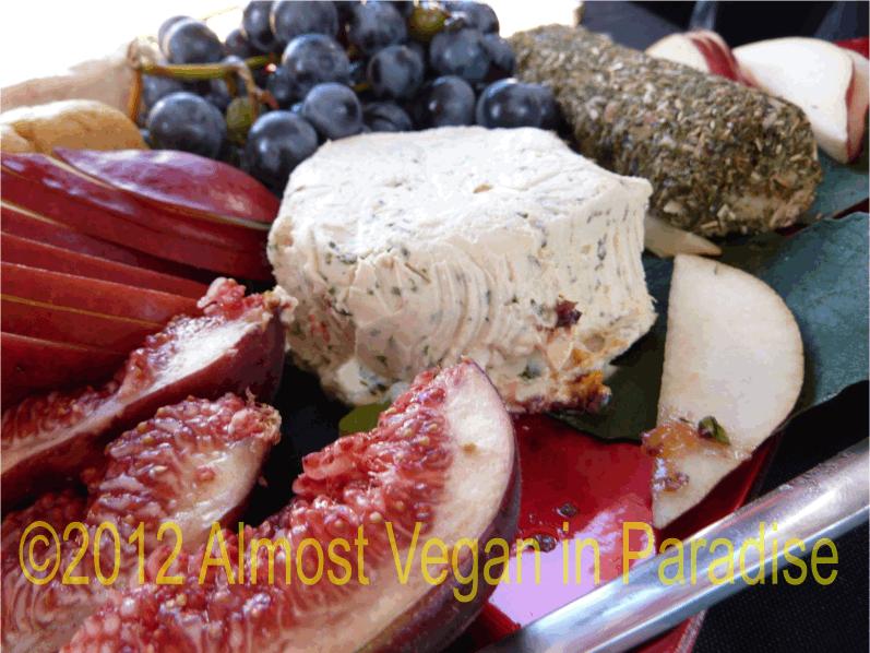 artisan vegan cheese platter